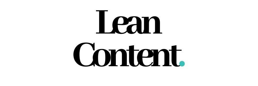 Lean Content. (1)