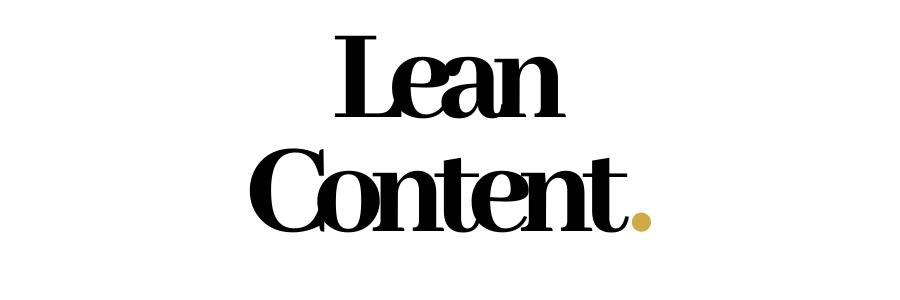 Lean Content. (2)