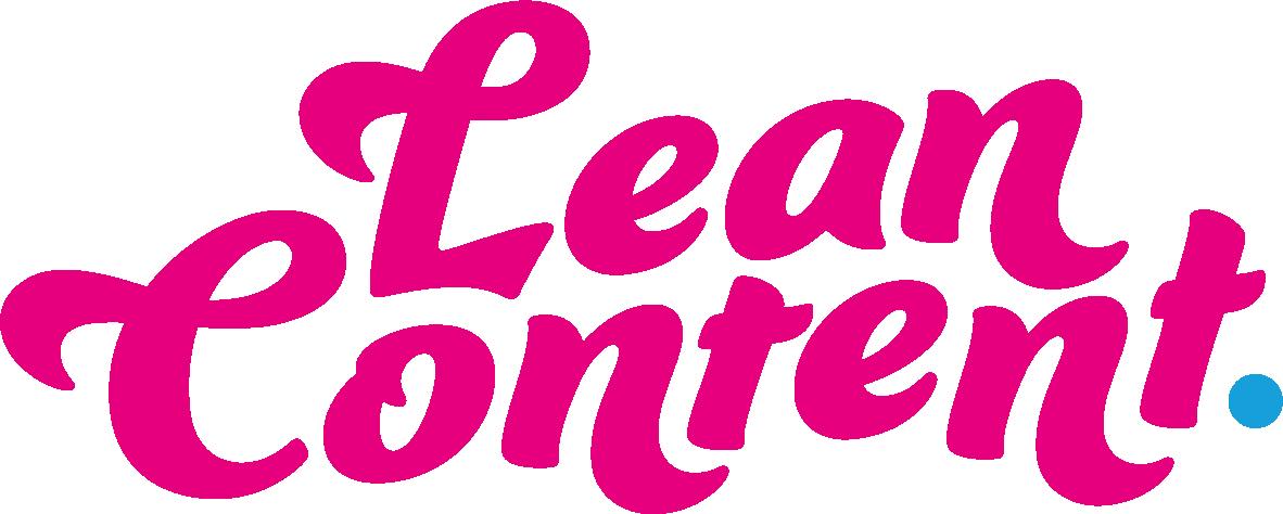 Lean Content Logo Pink